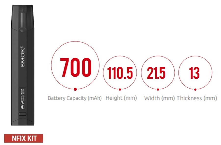 Featuring a large capacity and a variable wattage output the Nfix pod kit by Smok is reliable and versatile.