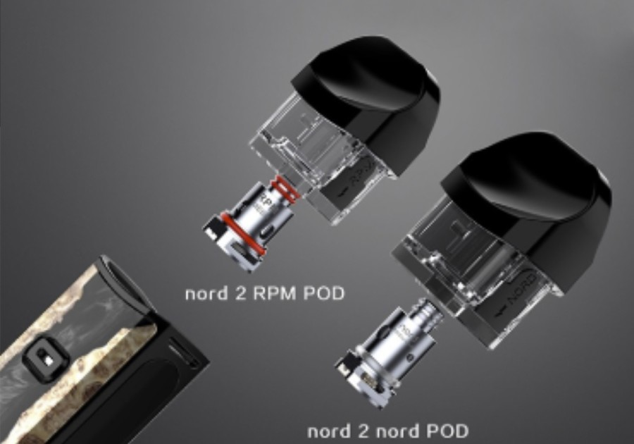 The Nord 2 pod kit is compatible with the Nord 2 RPM 2ml pods as well as the Nord 2 Nord pods.