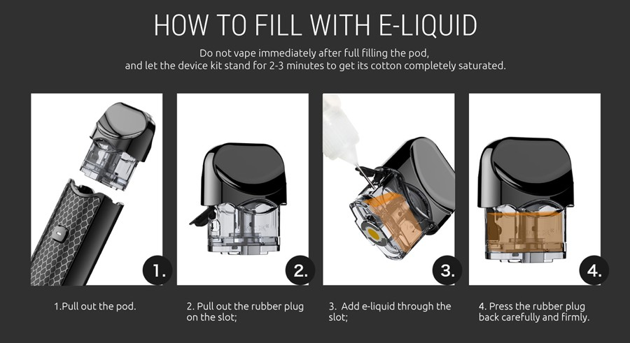 The Nord's easy refill method provides a hassle-free and clean experience.
