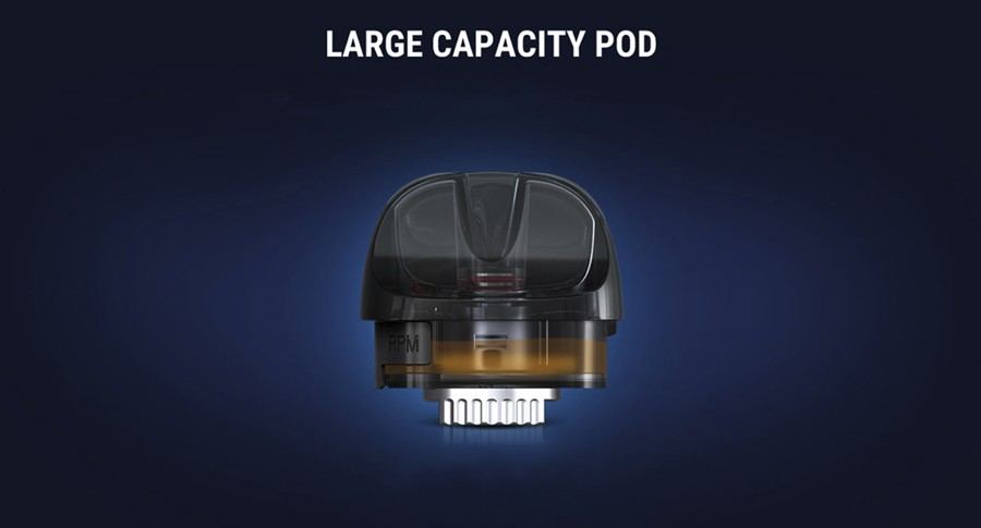 Refillable and capable of holding 2ml of e-liquid the Pozz X pods are long-lasting.