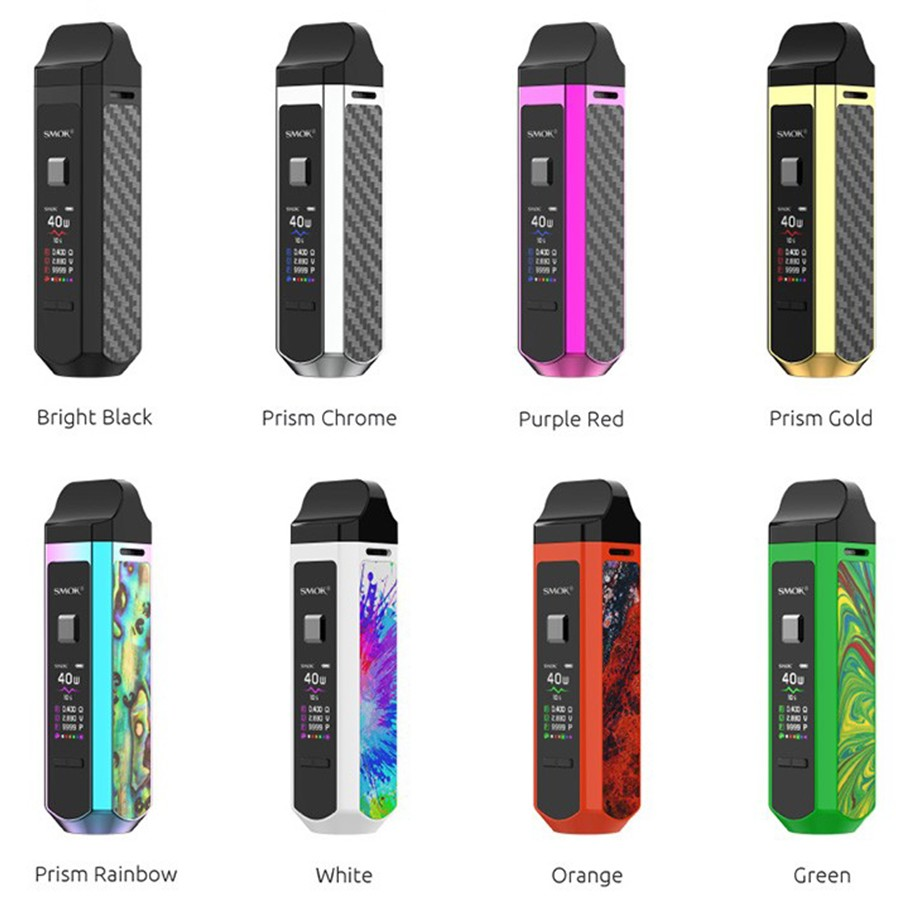 The Smok RPM40 pod kit its a pocket-sized vape kit that features a large battery and is simple to use.