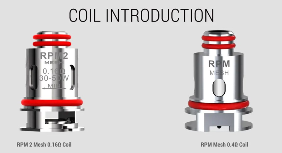 the Smok RPM coils included with Scar P5 pod kit give you the option to use high VG and high PG e-liquid.