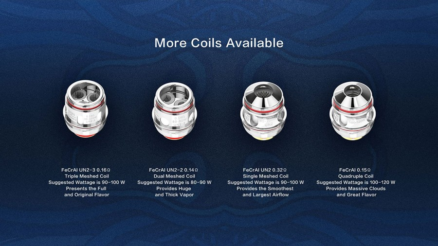 The Uwell UN coil series supports different styles of vaping