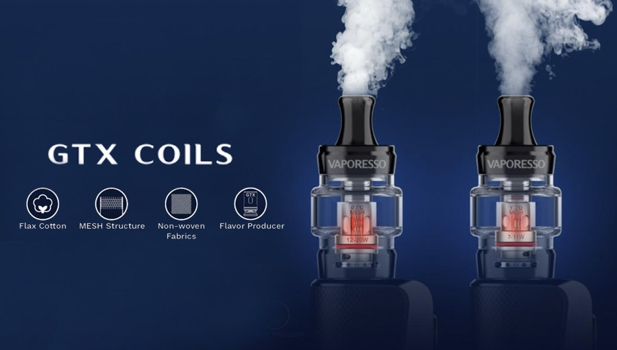 Vaporesos GTX coils create a small amount of vapour and deliver better flavour from high PG e-liquid.