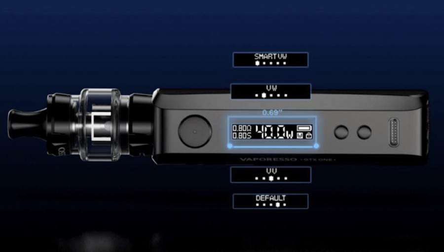 Use Variable Wattage mode to find a power output that's compatible with your choice of coil.