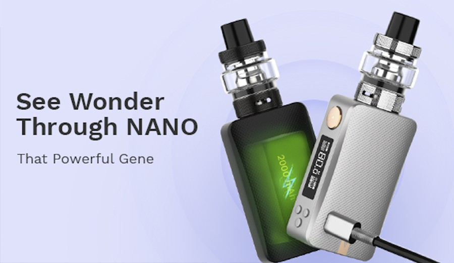 The Gen Nano sub ohm vape kit is powered by a built-in 2000mAh battery for a longer battery life.